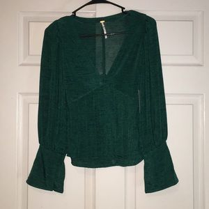 Free People Dark Green Top